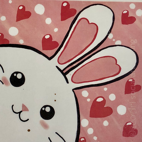 Love bunny canvas painting kit