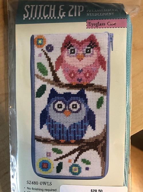 Owl eyeglass case