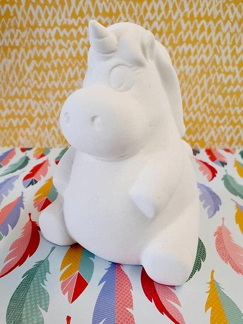 Leila the plump unicorn
