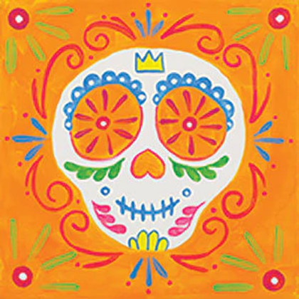 Canvas of the month- SUGAR SKULL  12 x 12""