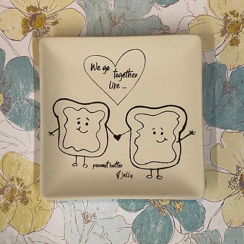 Square coloring book plate -PB&J