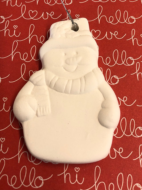 Snow person ornament
