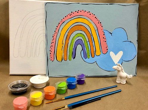 Rainbow canvas project kit