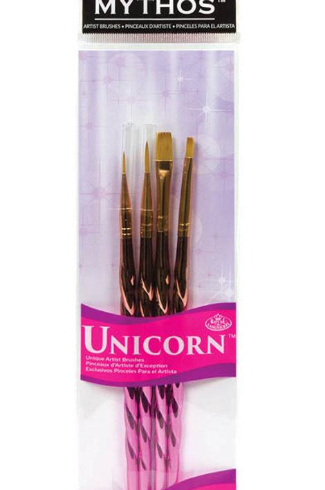 Unicorn handle brushes