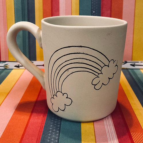 Rainbow coloring book mug