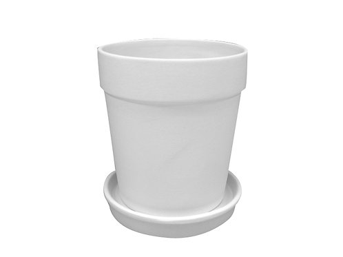 Medium flower pot w/tray