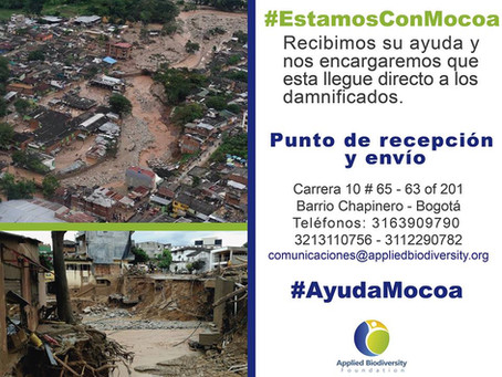 Ayudas para Tragedia en Mocóa,