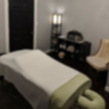 The Blue Davenport Day Spa massage treatment room
