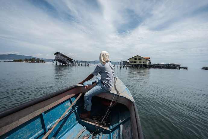 Floating Village, Sulu Sea, Malaysia, 2015, Archival Pigment Print, Series of 5