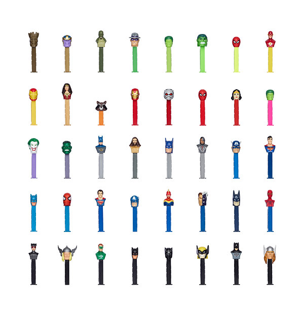 Super Hero Pez, Fine Art Inkjet Print, Series of 10