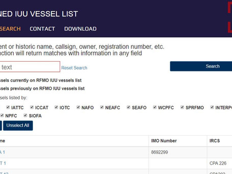The Combined IUU List in 2018