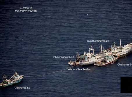 Five vessels IUU listed by IOTC