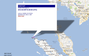 "IUU listed vessel Kily entering the Indian Ocean transmitting her old name ""Constant"" through her AIS"