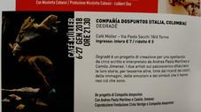 Degradé. Compañía dospuntos. En Teatro Cafè Muller, Torino