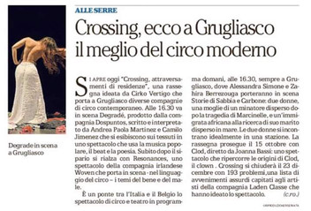 Degradé. Compañía dospuntos. En Crossing, Cirko vértigo, Italia