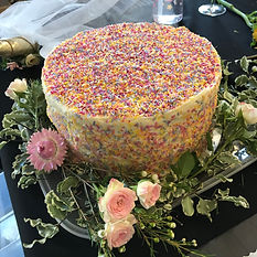 Flower crown party - delicious cake