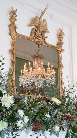 Christmas Mantelpiece Flowers