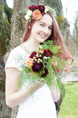 Flower Crown and Bouquet.