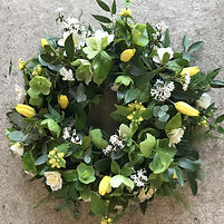 Spring Wreath with hellebores