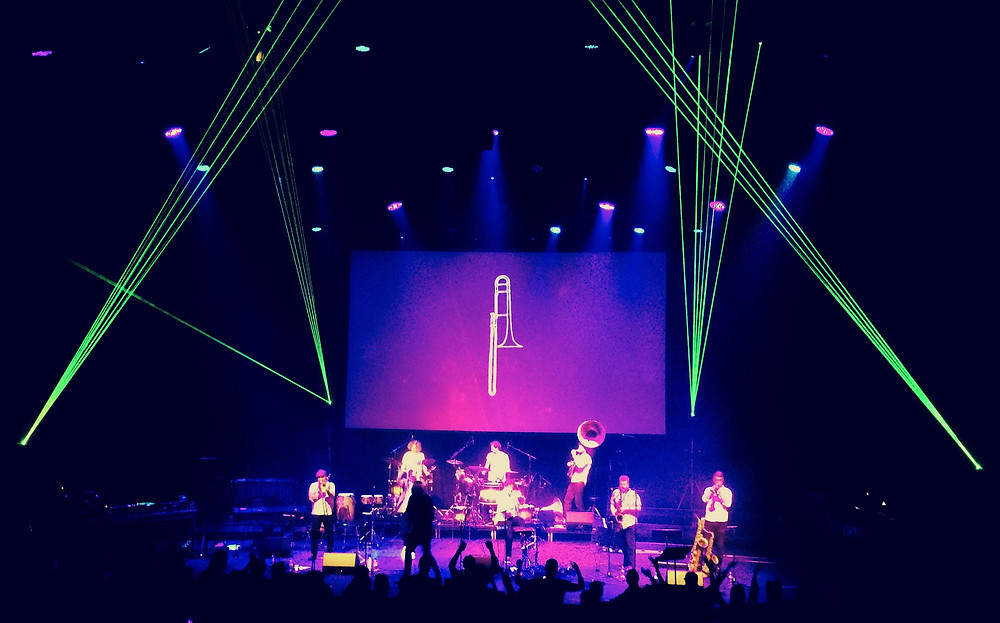 HCB onstage at the Barbican