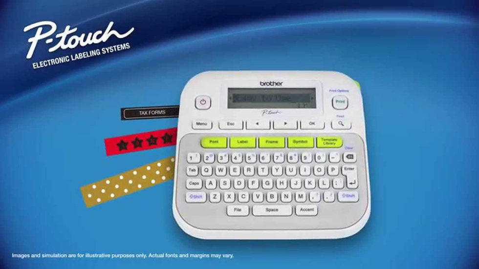 Brother P-touch, PTD210, Easy-to-Use Label Maker, One-Touch Keys, Multiple Font