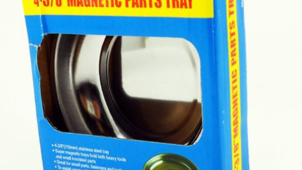 """Magnetic Stainless Steel Parts Bowl Round 4-3/8"""" Tools TRAY"""