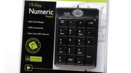 Gear Head, Llc - Gear Head Kp2200u 19-Key Numeric Keypad - Usb - 19 Keys