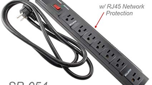 7 Outlets 1200-Joules Surge Protector Power Strip