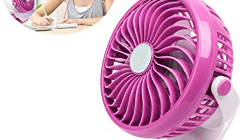 USB Clip Fan Rechargeable Battery Powered Clip Desk Fan