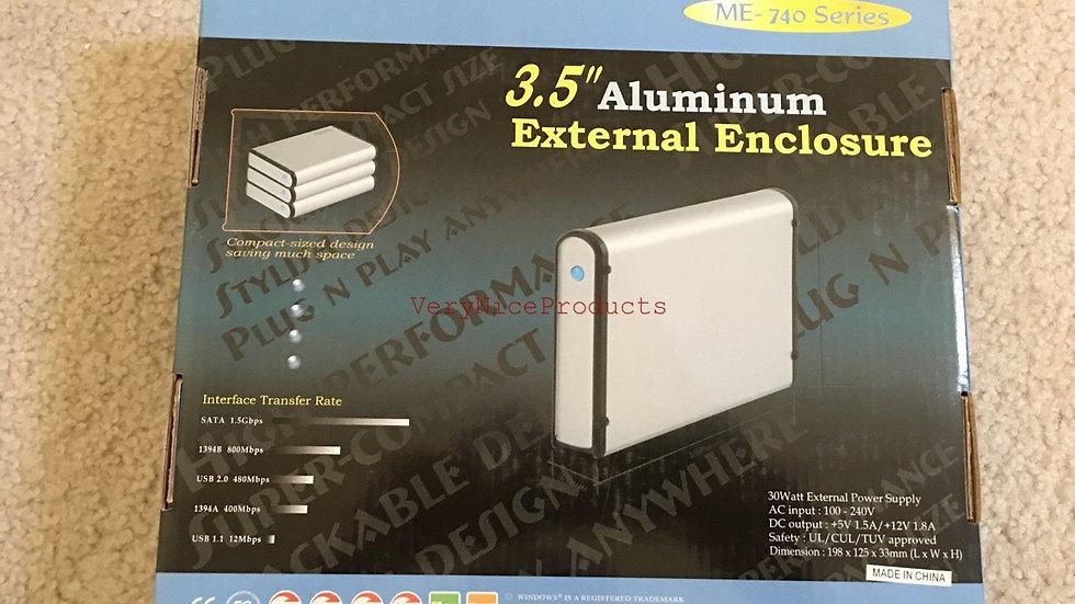 "NEW BYTECC ME740 IDE/PATA to SATA Stackable External Enclosure 3.5"" Aluminum"