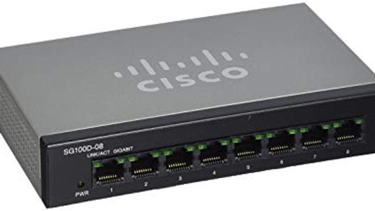 CISCO SYSTEMS CI10010 SG100D-08-NA 8 Port Gigabit Switch