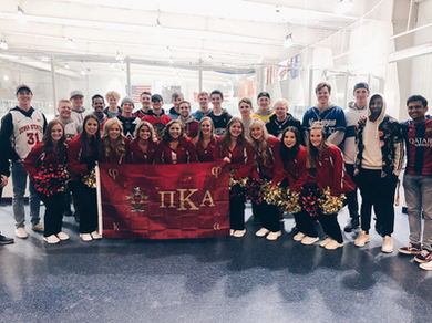 Thanks to the ISU Hockey Cheerleaders for joining us in this picture, we appreaciate it!🌪 RUSH PIKE #mostbestmen