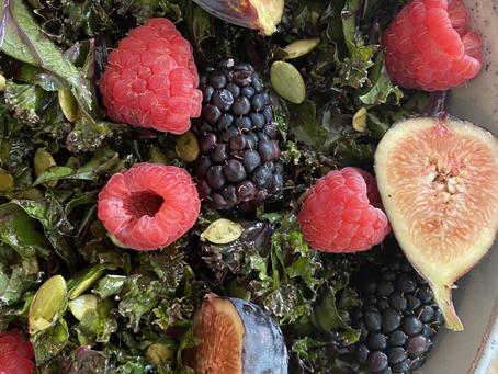Fresh Kale Berry Salad