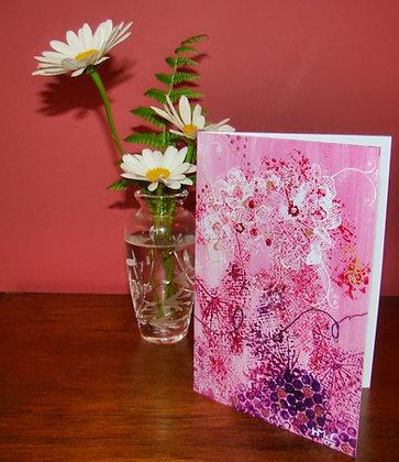 Art Card - Pink Lace