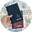 Reisepasshülle, Travel Passport, Passportcase, Personalisiert mit Namen, Dokumententasche