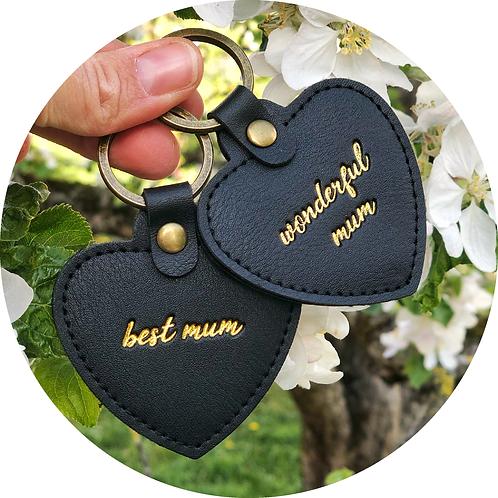 Herzanhänger, Schlüsselanhänger Muttertag, best mum, wonderful, Geschenkidee Mama