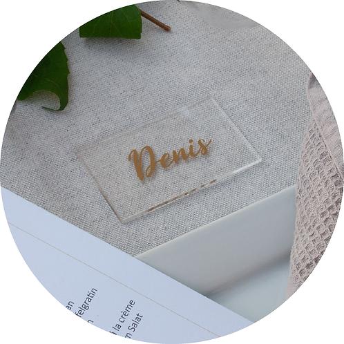 Acryl Schild, Namensschild, Platzkarte, Namenskarte, Hochzeit, Tischordnung, Tischdeko