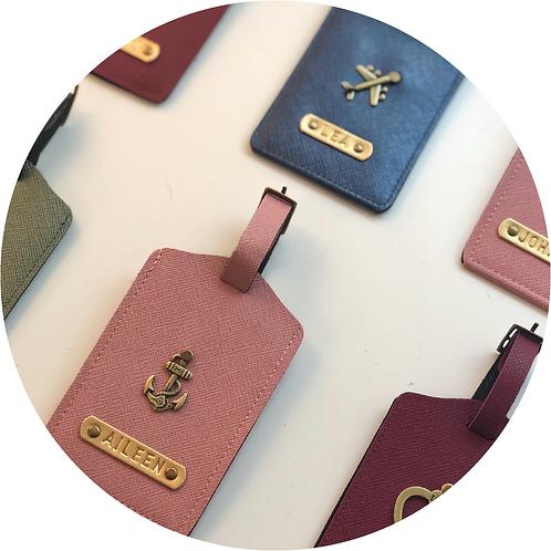 Kofferanhänger personalisiert, Namensgravur, Luggagetag, Reiseaccessoires, Kunstleder