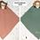 Schuffeltuch mit Beißring, Personalisiert mit Namen, Spucktuch, Babytuch, Musselintuch
