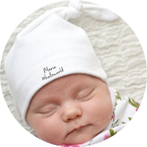 Babymütze, Neugeborenen Mütze, Babyshower Geschenk, Name, personalisiert