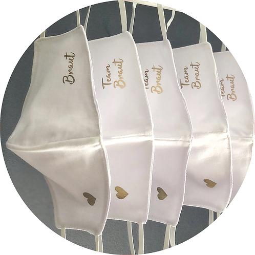 Masken personalisiert, Braut Bräutigam Team Braut Maske, Coronamaske, Coronahochzeit, Mrs Mr