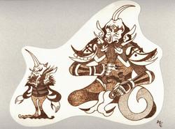 「金角大王と銀角小魔人」