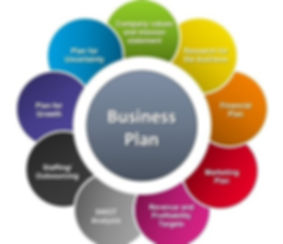 Image detailing the required elements to be included in the business planning process