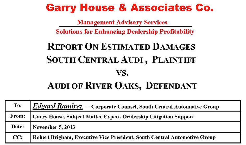 Header for Litigation Support Documentation
