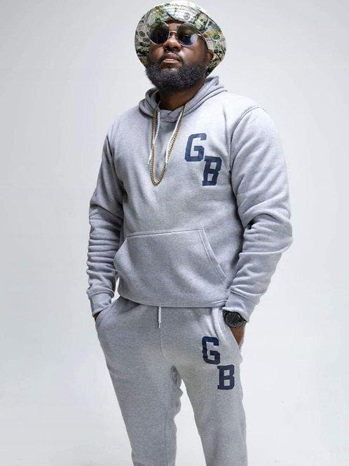 GB GWOPBOYS  Gray hooded sweatshirt with sweat pants
