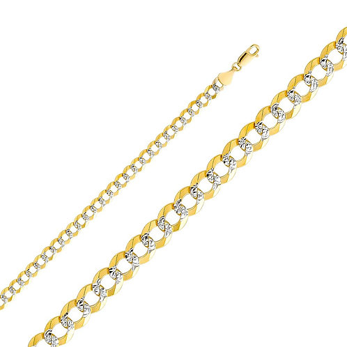 14k Two Tone Gold 5.7-mm Cuban Chain Necklace
