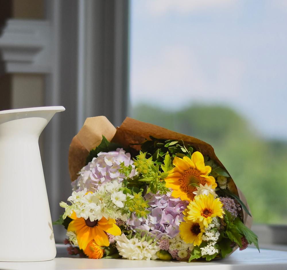 A Sweet Piedmont flower bouquet, fresh from the farmers market.