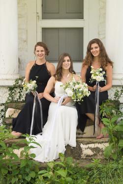 white and black wedding