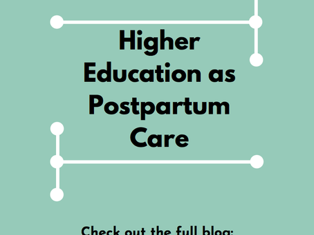 Higher Education as Postpartum Care