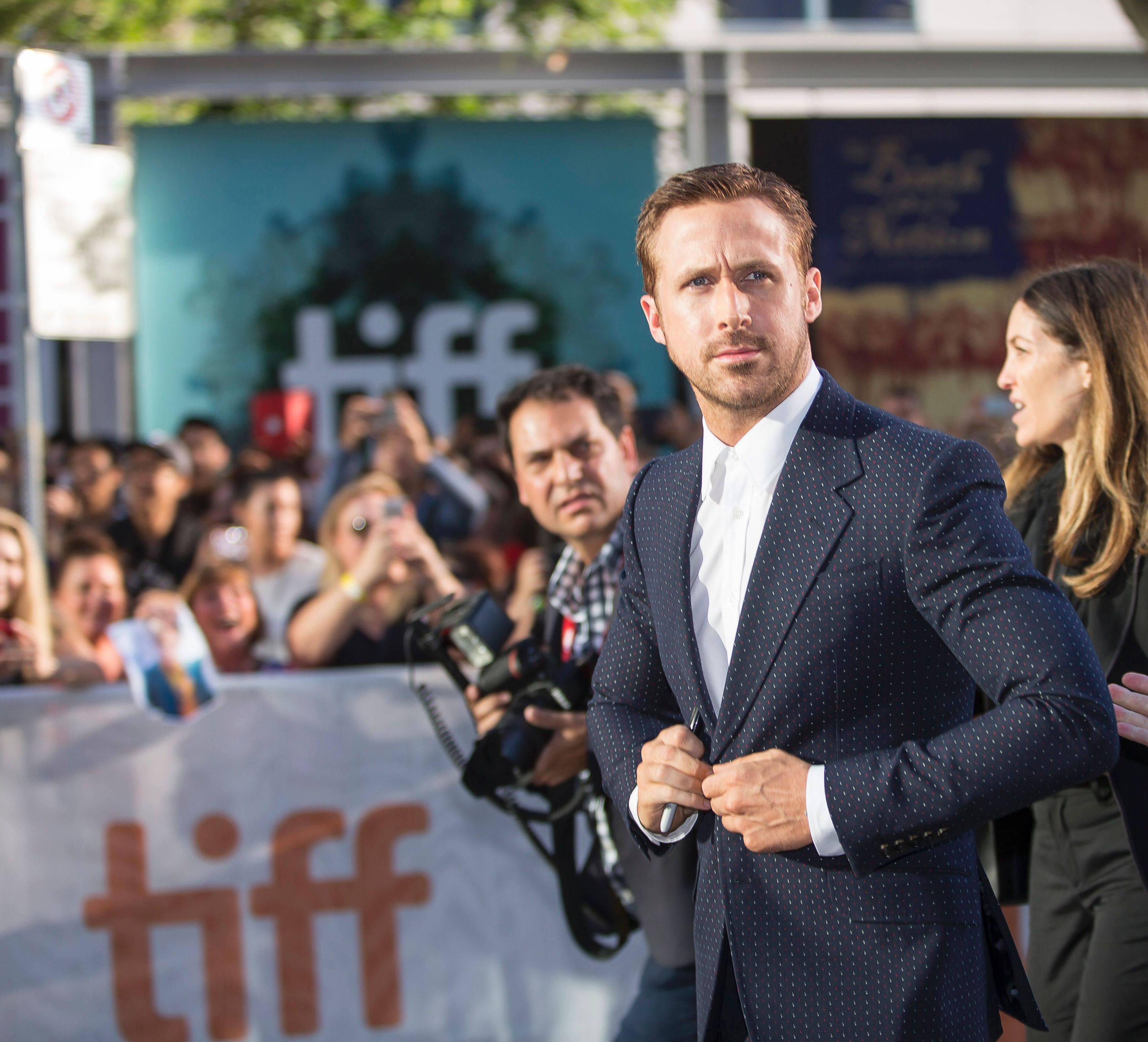 Ryan Gosling with TIFF creative